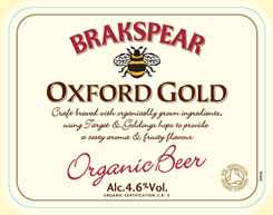 Label Oxford Gold Organic Beer