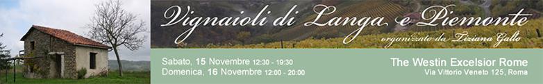 I colori di Langa e Piemonte il 15 e 16 novembre al Westin Excelsior Rome