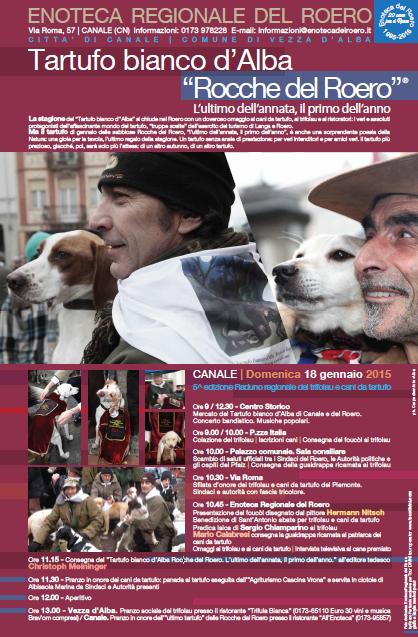 Domenica 18 gennaio a Canale il 5° Raduno regionale dei trifolau e cani da tartufo