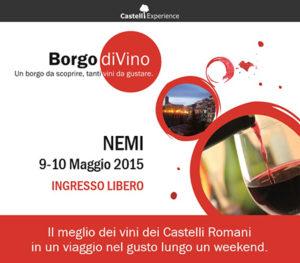 Nemi, la città delle fragoline, ospita Borgo diVino il 9 e 10 maggio 2015