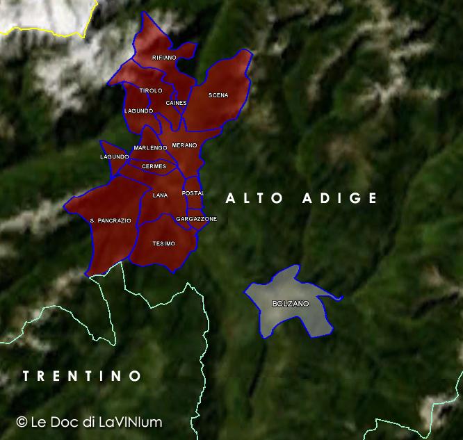 Le Doc dell'Alto Adige: Alto Adige Sottozona Meranese di Collina o Meranese