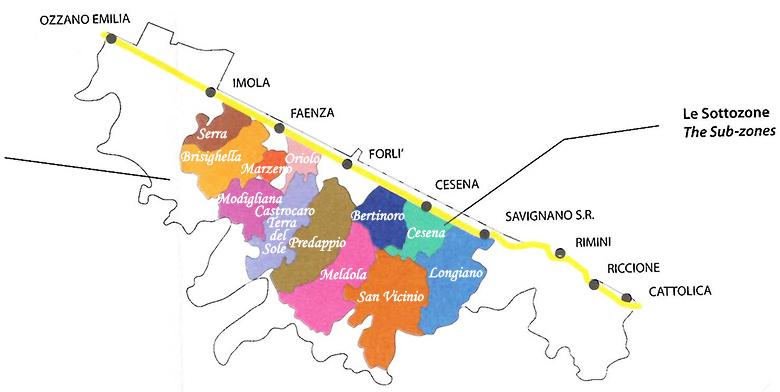 Mappa Sangiovese di Romagna