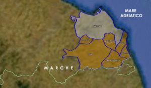 Mappa vino Docg Conero