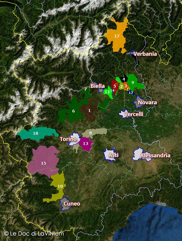 Le DOC e DOCG del Piemonte: le denominazioni del Nord
