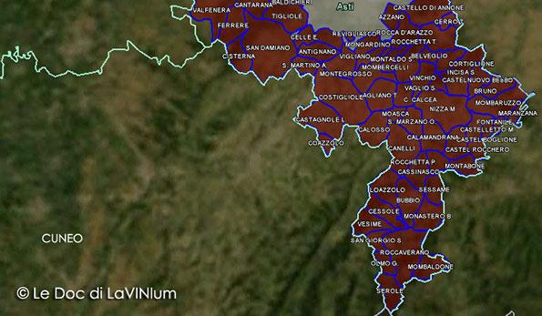 Cartina Dettagliata Piemonte.Le Doc Del Piemonte Freisa D Asti Lavinium