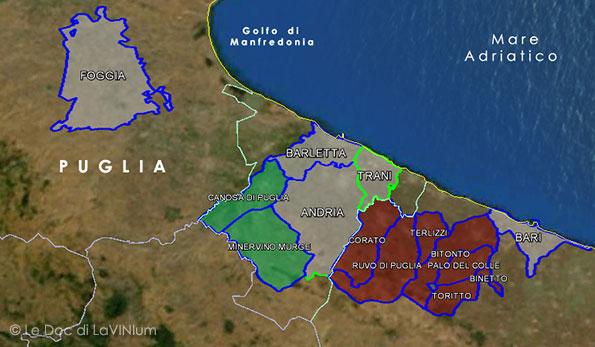 Ruvo Di Puglia Cartina.Le Doc Della Puglia Castel Del Monte Bombino Nero Lavinium