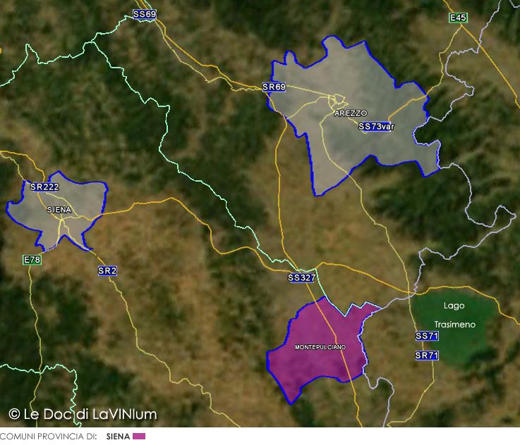 Cartina Toscana Provincia Di Siena.Le Doc Della Toscana Rosso Di Montepulciano Lavinium