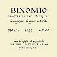 Montepulciano d'Abruzzo Binomio 1999