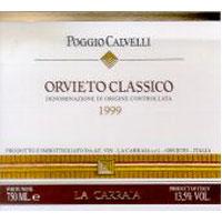 Orvieto Classico Poggio Calvelli 1999