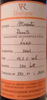 Moscato passito 2003