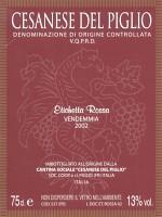 Cesanese del Piglio Etichetta Rossa 2002