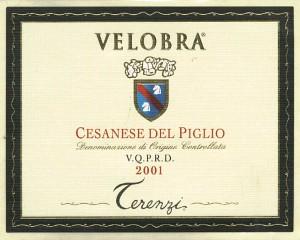 Cesanese del Piglio Velobra 2001