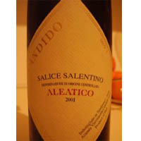 Salice Salentino Aleatico 2001