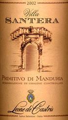 Primitivo di Manduria Villa Santera 2002
