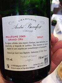 André Beaufort Brut Millesimé 2003