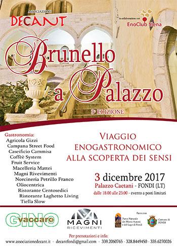 Locandina Brunello a Palazzo 2017