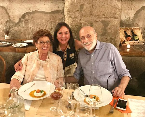 Rita Abagnale con Carlo petrini e Carmen Guerriero