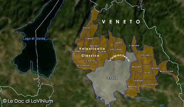 Cartina vino Amarone della Valpolicella Docg