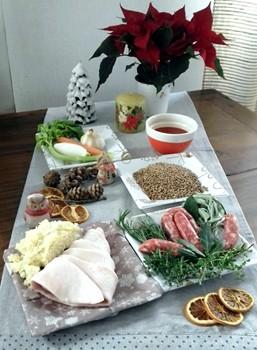 Ingredienti per la preparazione delle Lenticchie di Colfiorito con involtini di cotenne di maiale