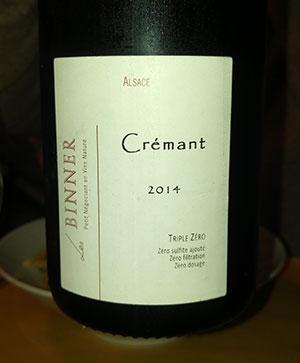 Crémant d'Alsace 2014 Domaine Binner