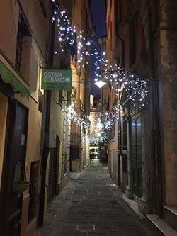 Insegna Ostaia de Banchi a Genova
