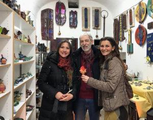 Carmen Guerriero con Pippo Moresca e la guida turistica Patrizia Alberga