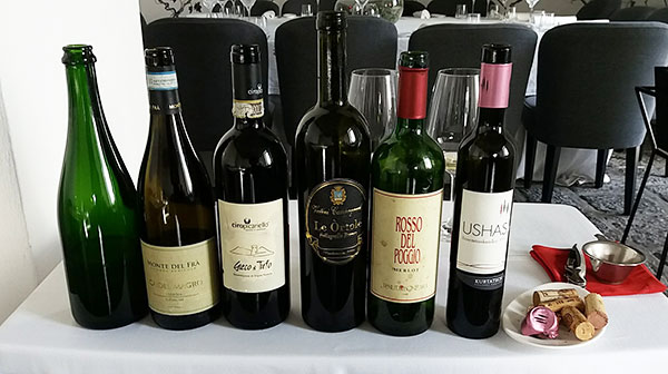 I vini selezionati per il pranzo