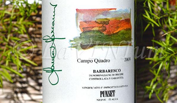 Barbaresco Campo Quadro 2009 Punset