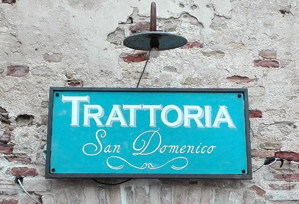 Insegna Trattoria San Domenico