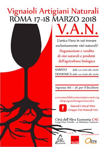 Locandina V.A.N. 2018