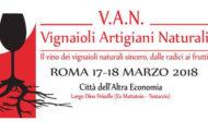 Sabato 17 e Domenica 18 tornano a Roma i VAN, vignaioli artigianali naturali