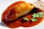 Calamari ripieni con contorno di polenta bianca e Lazio Rosato