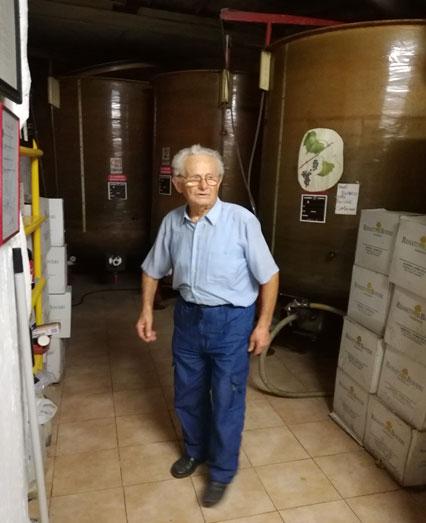 Renato Boveri in cantina