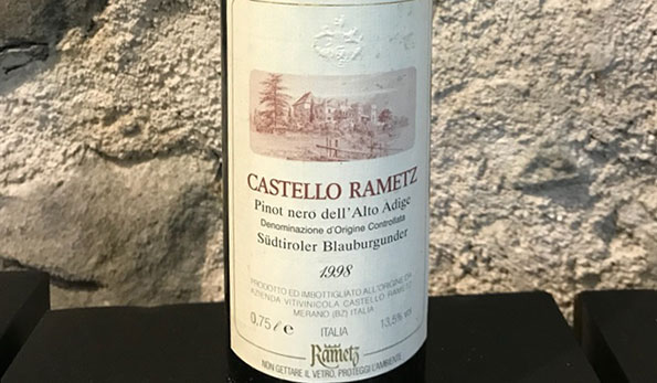 Alto Adige Pinot Nero 1998 Castello Rametz