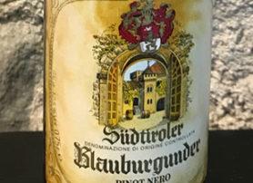Alto Adige Pinot Nero Riserva 1976