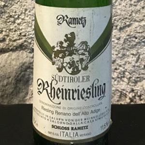 Alto Adige Riesling Renano 1986 Castello Rametz