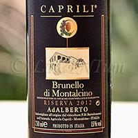 Brunello di Montalcino AdAlberto Riserva 2012 Caprili