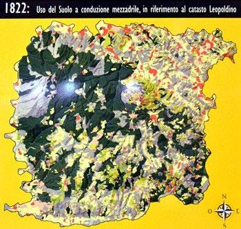 mappa Montalcino 1822