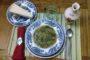 Minestra con erbe selvatiche, ortiche, verdure di primavera e Vallée d'Aoste Blanc de Morgex et de La Salle