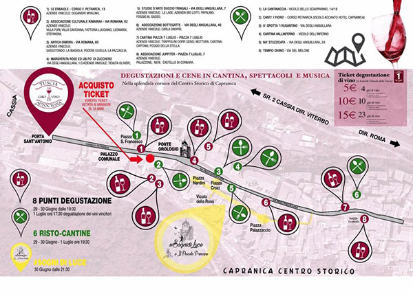 Cartina cantine Capranica
