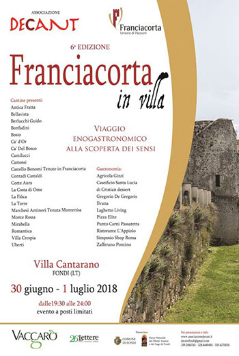 locandina Franciacorta in Villa 2018