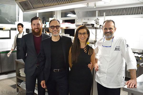 Da destra: Nicola Portinari, Cinzia Boggian, Pierluigi Portinari e Matteo Bressan