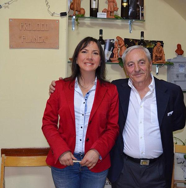 Carmen Guerriero con Pasquale Cecere