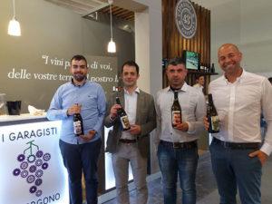 I 4 garagisti da destra Simone Murru Pietro Uras Andrea Macis e Renzo Manca