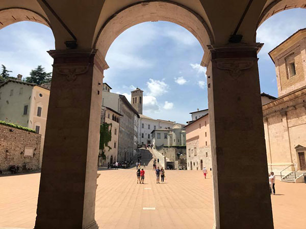 veduta dal Duomo di Spoleto