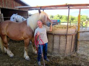 Roberto Di Filippo con i suoi cavalli