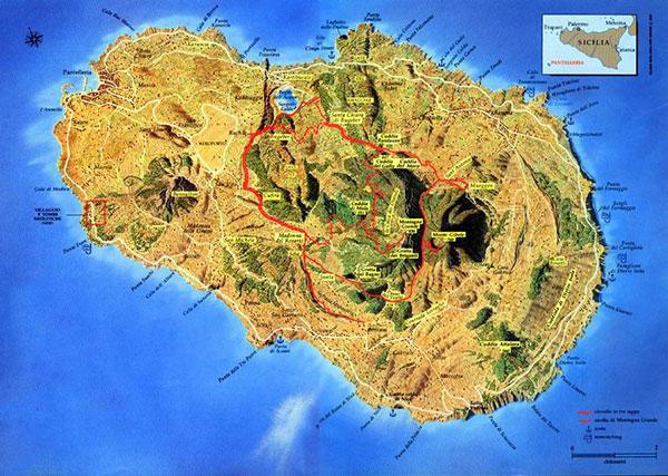 cartina Pantelleria