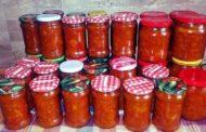 Antipasto dell'orto in salsa di pomodoro e Monferrato Chiaretto