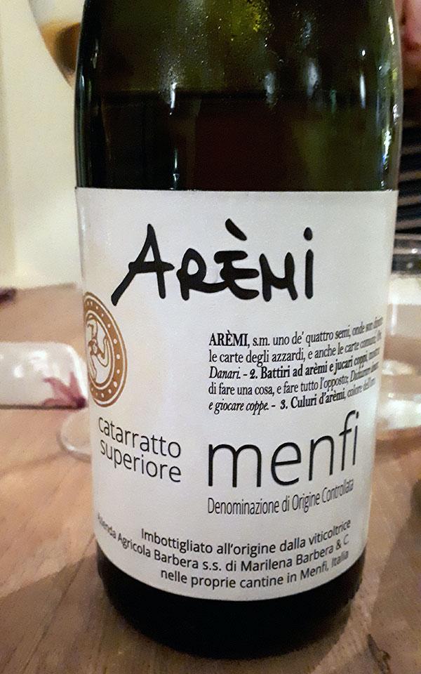 Menfi Catarratto Superiore Arèmi 2016 di Marilena Barbera