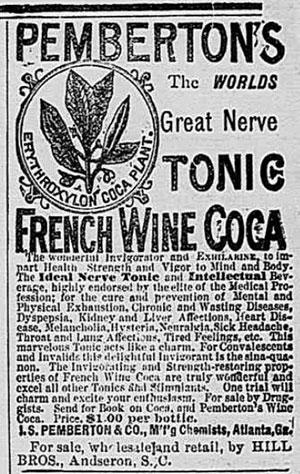 Pemberton's Tonic French Wine Coca